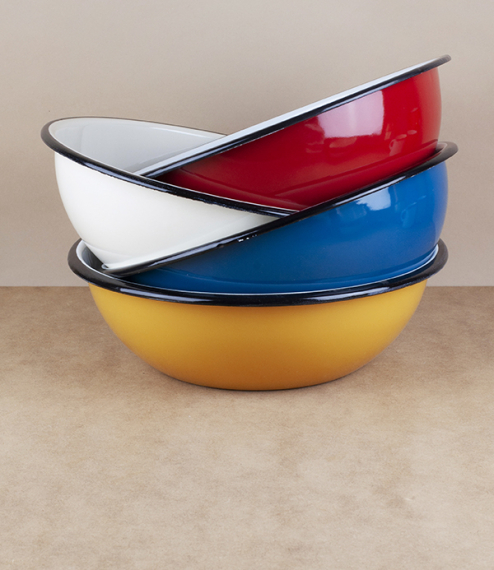 Ukrainian enamel bowl, 24cm, mint