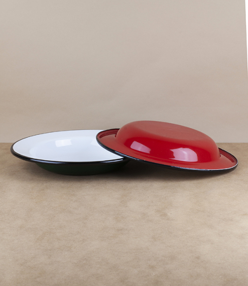 Ukrainian enamel deep plates