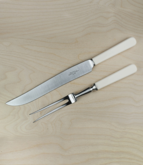 Cream handled Sheffield carving set