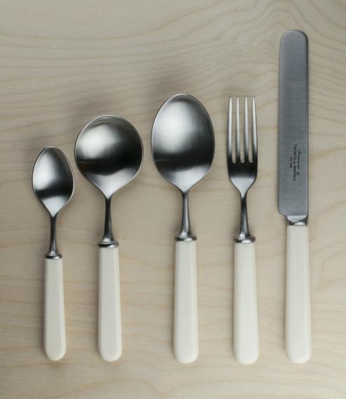 Cream handled Sheffield made cutlery