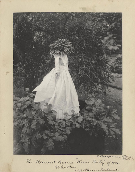 A kern baby or harvest queen photographed by Sir Benjamin Stone in 1901