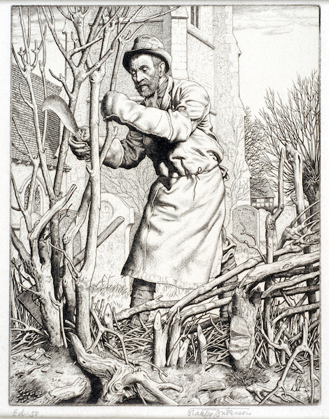 'Hedge-laying', Stanley Anderson, 1945
