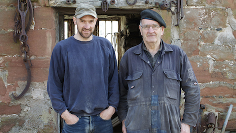 John and Graeme Rudd outside their Dufton village workshop.