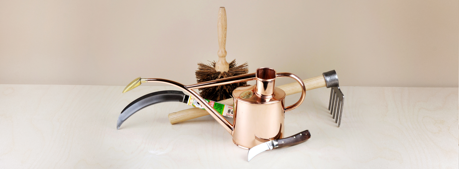 Objects of use in the garden, for manual labour and to ease the wait whilst the fruit of your labour grows