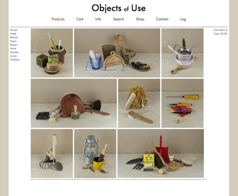 Objects of Use product page