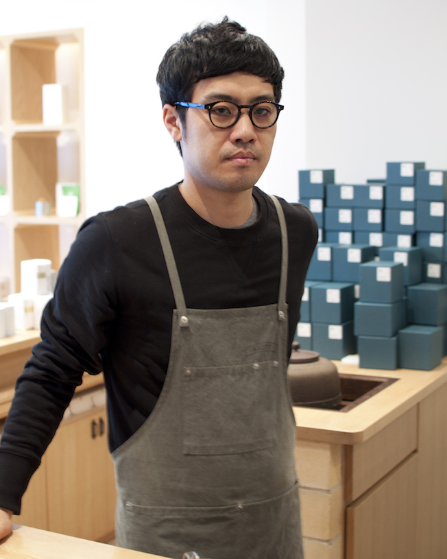 Koutaruu Shinpara at home in his tea shop.