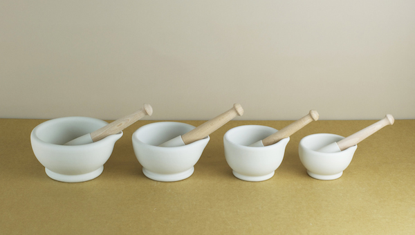 For over a century Milton Brook of Stoke on Trent have been producing these fully vitrified porcelain and beech pestle and mortars. They are fired at ..