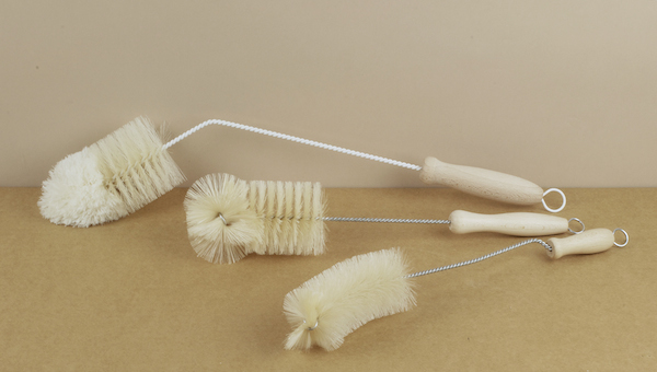 A choice of three wire, bristle, and beech handled bottle brushes from a small German family run company who have specialised in the making of natural..